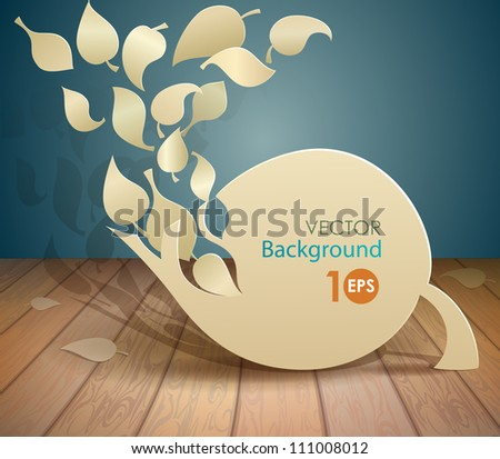 Abstract leaves of paper. EPS 10 - stock vector