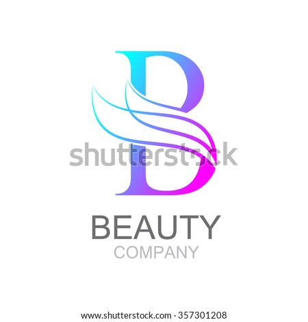 Abstract Letter B Logo Design Template With Beauty Industry And Fashion Logocosmetics Business