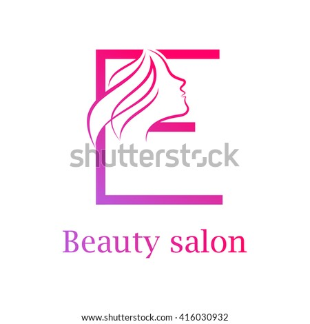 Beauty logo template abstract woman character stock vector for Abstract beauty salon