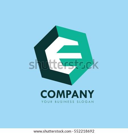 abstract letter e logo design stock vector 552218692 - shutterstock