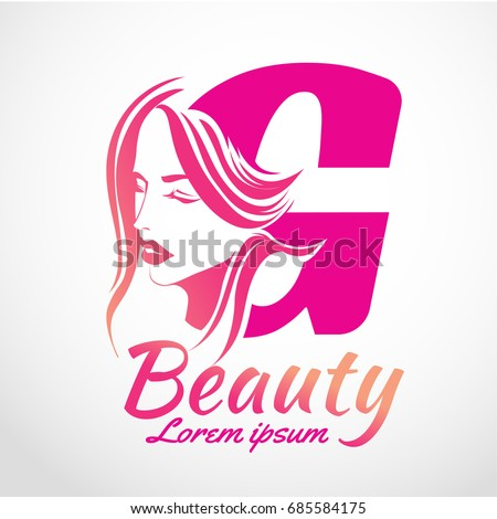 abstract letter g logo beauty salon stock vector 685584175