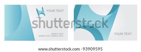 Abstract Letter H Icon Symbol Business Card Set EPS 8 vector, grouped for easy editing. No open shapes or paths. - stock vector