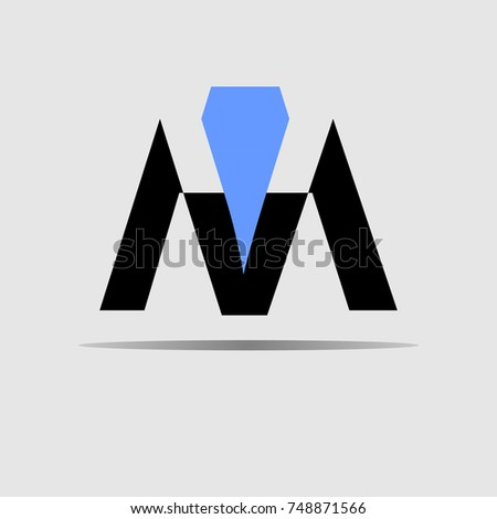abstract letter M construction logo design concept template