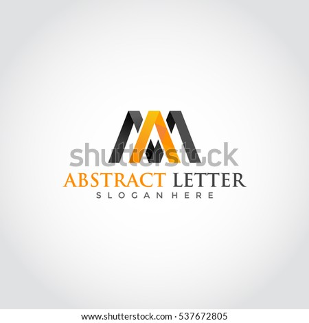 abstract letter ma logo design template stock vector 537672805