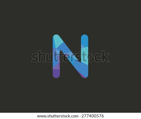 Abstract letter N logo design template. Colorful creative sign. Universal vector icon. - stock vector