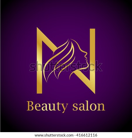 Barber logo stock photos royalty free images vectors for Abstract beauty salon