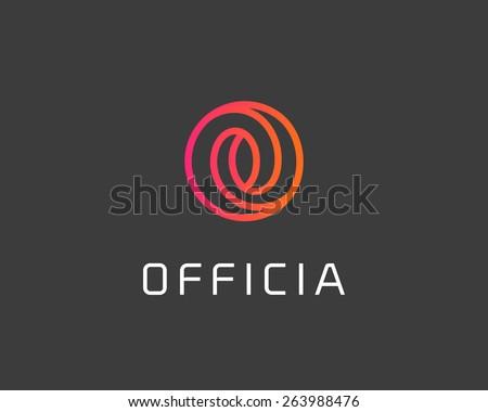 Abstract letter O logo design template. Colorful spiral creative sign. Universal vector icon. - stock vector