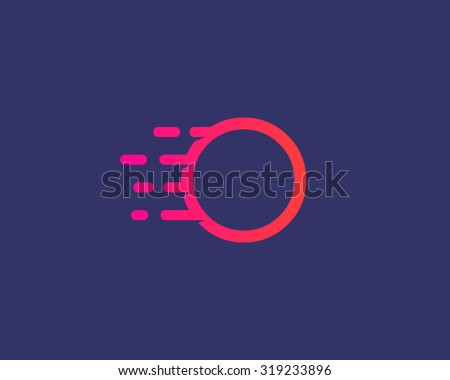 Abstract letter O logo design template.  Dynamic vector unusual line font. Universal fast speed fire moving water quick energy drop icon symbol mark. - stock vector