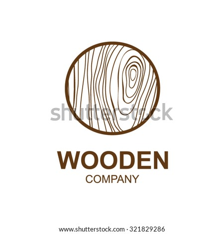 Abstract letter O logo design template with wooden texture,home,Logo design,Vector illustration,concept wood, sign,symbol,icon,Interesting design template for your company logo - stock vector