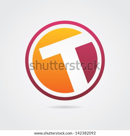 Abstract Letter T Icon - stock vector