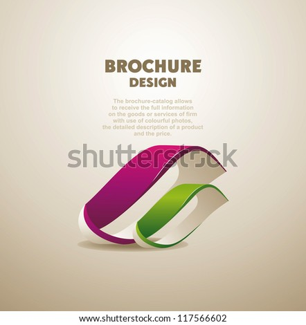 Abstract licon for design  brochure - stock vector