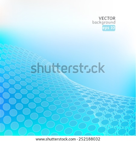 Abstract light blue background. Vector eps10 illustration - stock vector