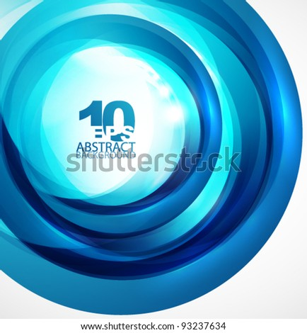 Abstract light blue circle wave - stock vector