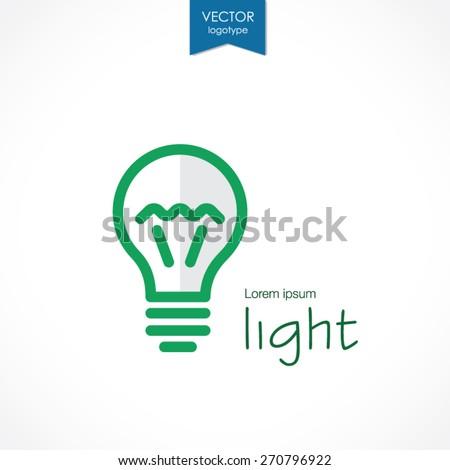 Abstract light bulb, vector logo - stock vector