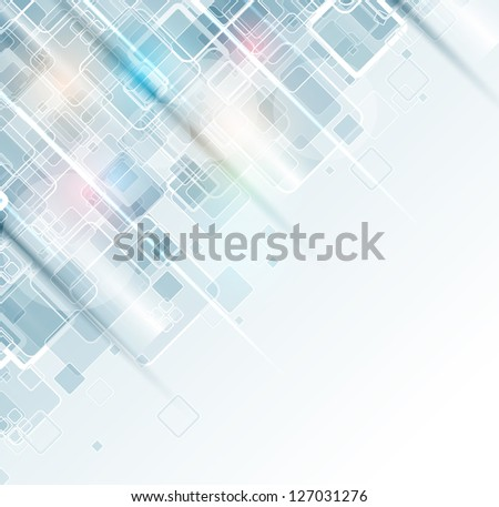 abstract light cube computer technology business background - stock vector