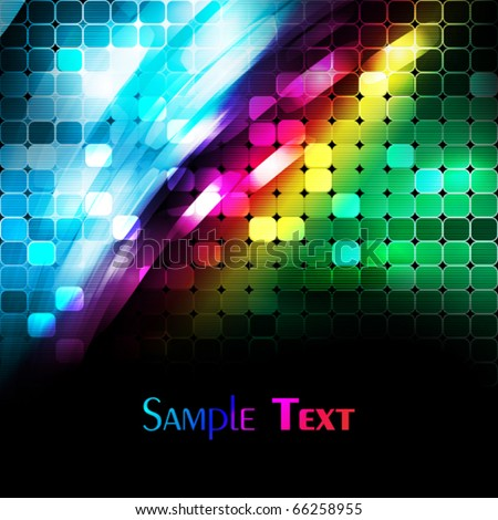 Abstract light digital background. Vector