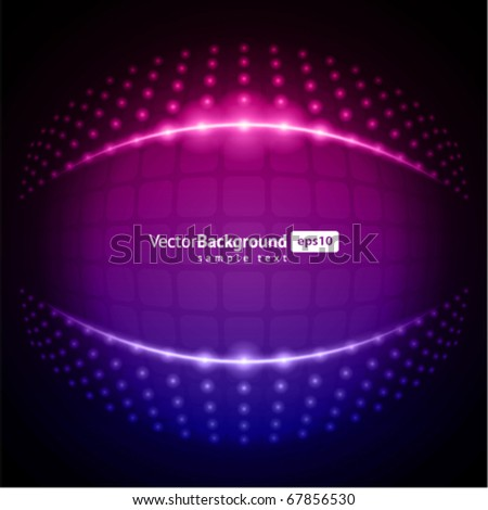 Abstract light lamps vector backround - stock vector