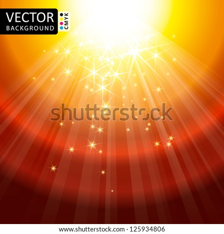 Abstract Light Lens Flare Shine Stars Flying Rays Vector - stock vector