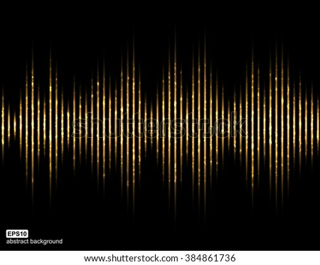 Abstract light lines background. Vector illustration. - stock vector