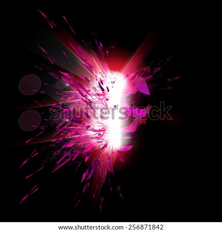 Abstract light portrait of woman - stock vector