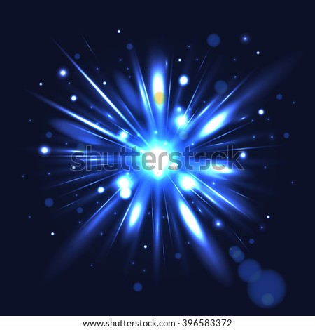 Abstract Light Rays Design. Vector Illustration. - stock vector