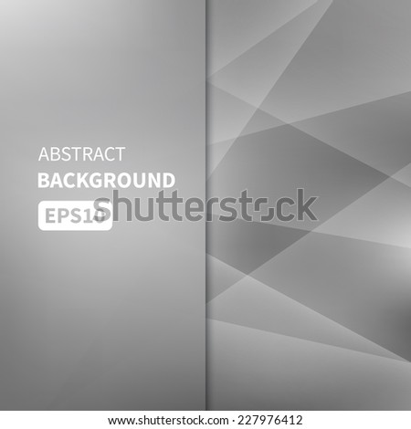 Abstract light silver vector background EPS10 - stock vector