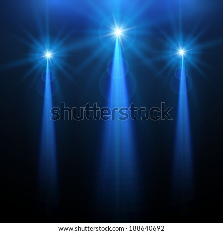 Abstract light & stars background for your business. Vector illustration - stock vector