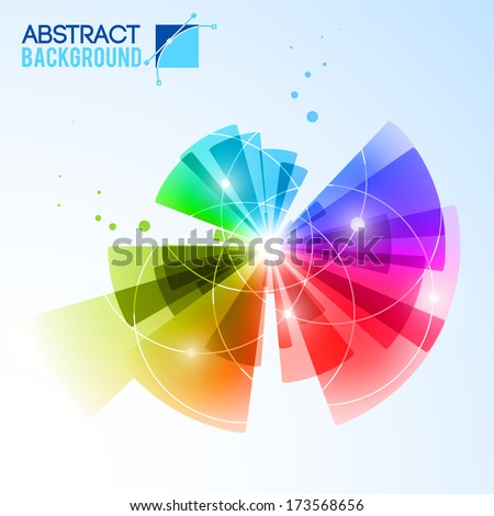 Abstract light vector background.  Vector Illustration, eps 10, contains transparencies. - stock vector