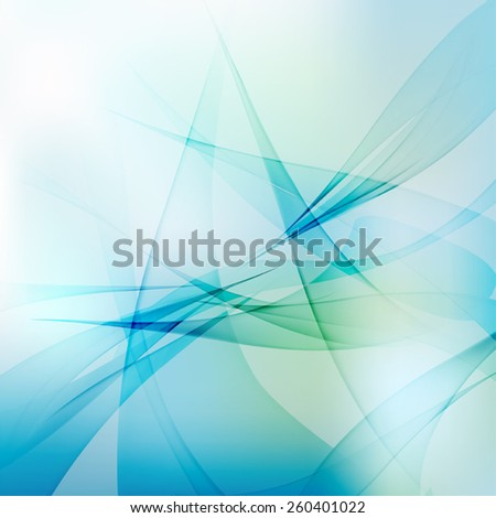 Abstract light waves vector background - stock vector