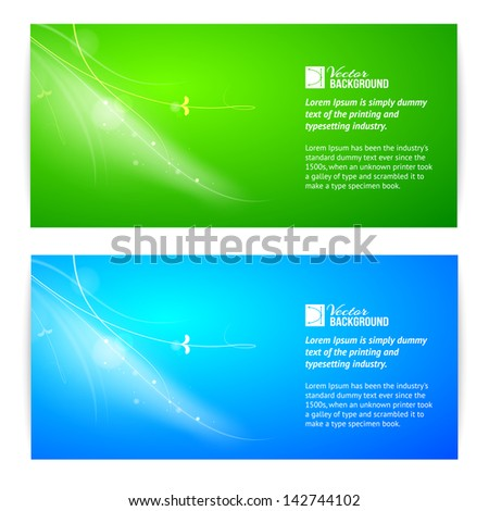 Abstract lights banner set. Vector illustration. - stock vector