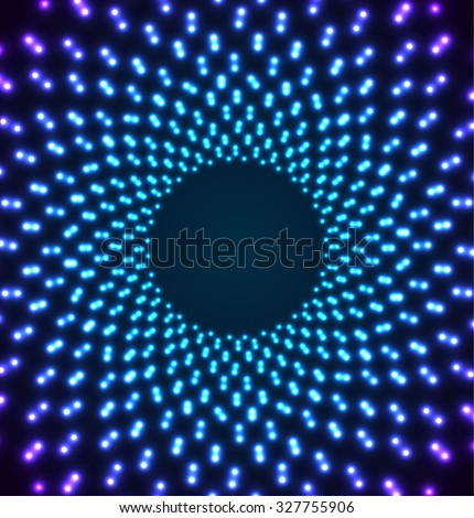 Abstract Lights Tunnel. Vector illustration. - stock vector