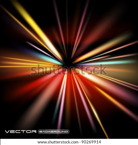 abstract lights vector background - stock vector