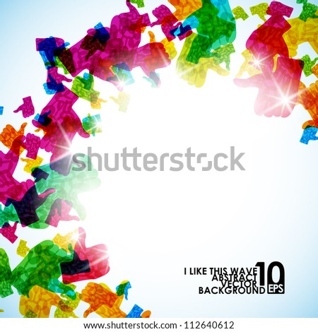 abstract like, eps10 - stock vector