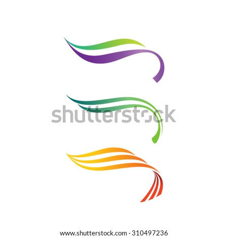 Abstract lines logo template - stock vector