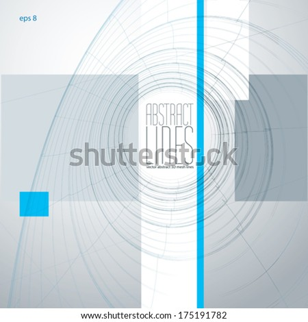 Abstract lines vector illustration, communication and digital technology abstract background, clear eps 8 vector. - stock vector