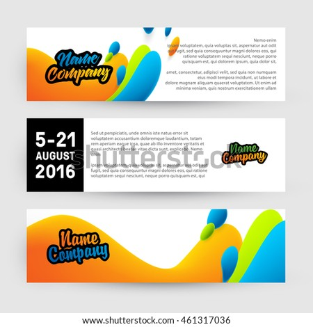 Abstract Liquid Bubbles Shapes for Background. Vector Illustration. Circles Pattern for Business Banners