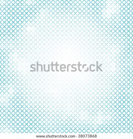 Abstract little crosses mosaic azure vector background. - stock vector