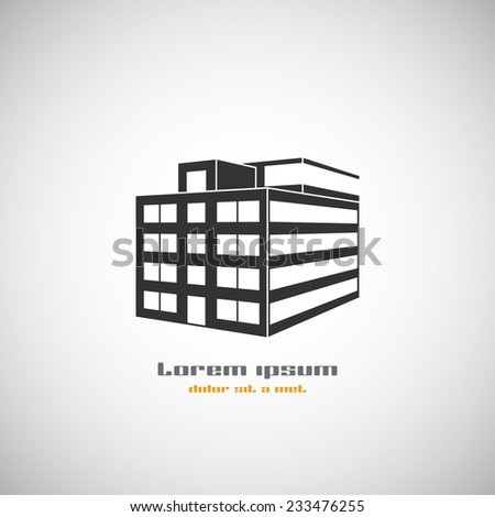 Abstract Logo Building Silhouette Real Estate Stock Vector - Free modern logo templates