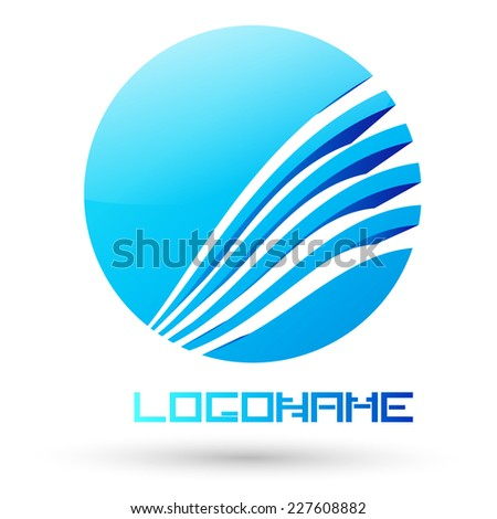 Abstract Logo Design in Globe form for your Company  - stock vector