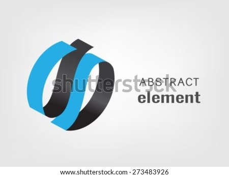 Abstract logo design template - stock vector