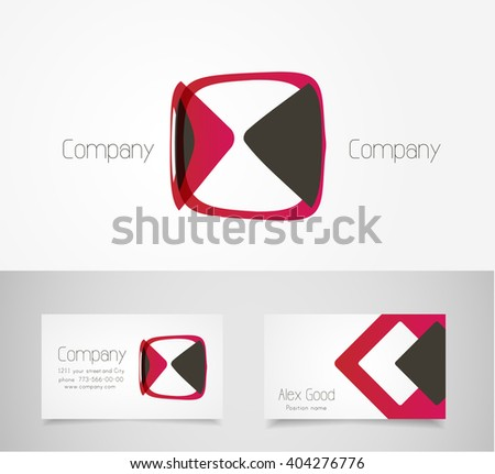 Abstract logo design template - stock vector