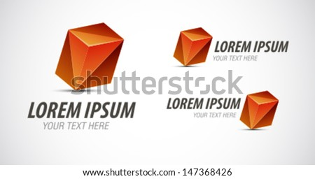 Abstract logo element - stock vector