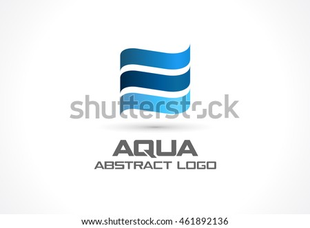 abstract logo for business company corporate identity design element eco ocean nature