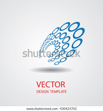 Abstract Logo Geometry Design. Modern Business Icon. - stock vector