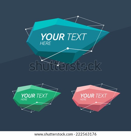 Abstract Logo template. Corporate icon such as logotype. Brand, visualization. Vector abstract element for banner, card, poster, corporate identity, presentation, app and web design. - stock vector