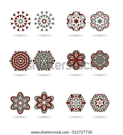 Abstract logo vector design template. Business creative concept - stock vector