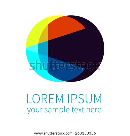 Abstract logotype, isolated on background, corporate vector logo template - stock vector