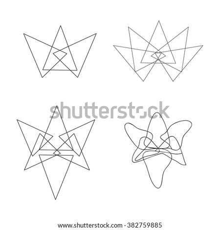 Abstract lotus flower icon lotus symbols stock vector 382759885 abstract lotus flower icon lotus symbols modern thin contour line logo mightylinksfo