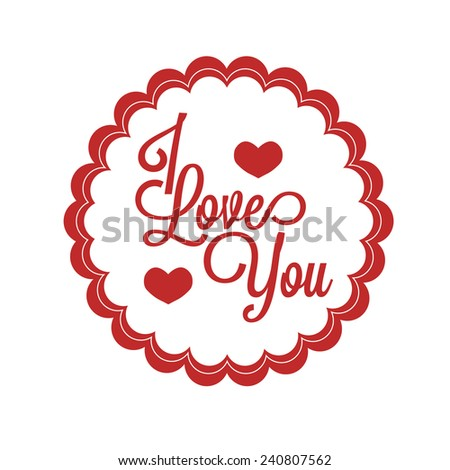 abstract love object on a white background