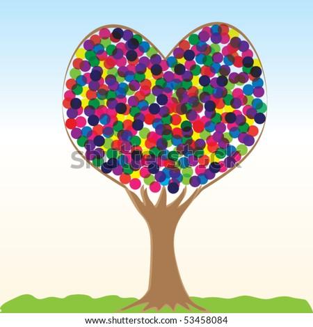 Abstract Love tree EPS 10 - stock vector